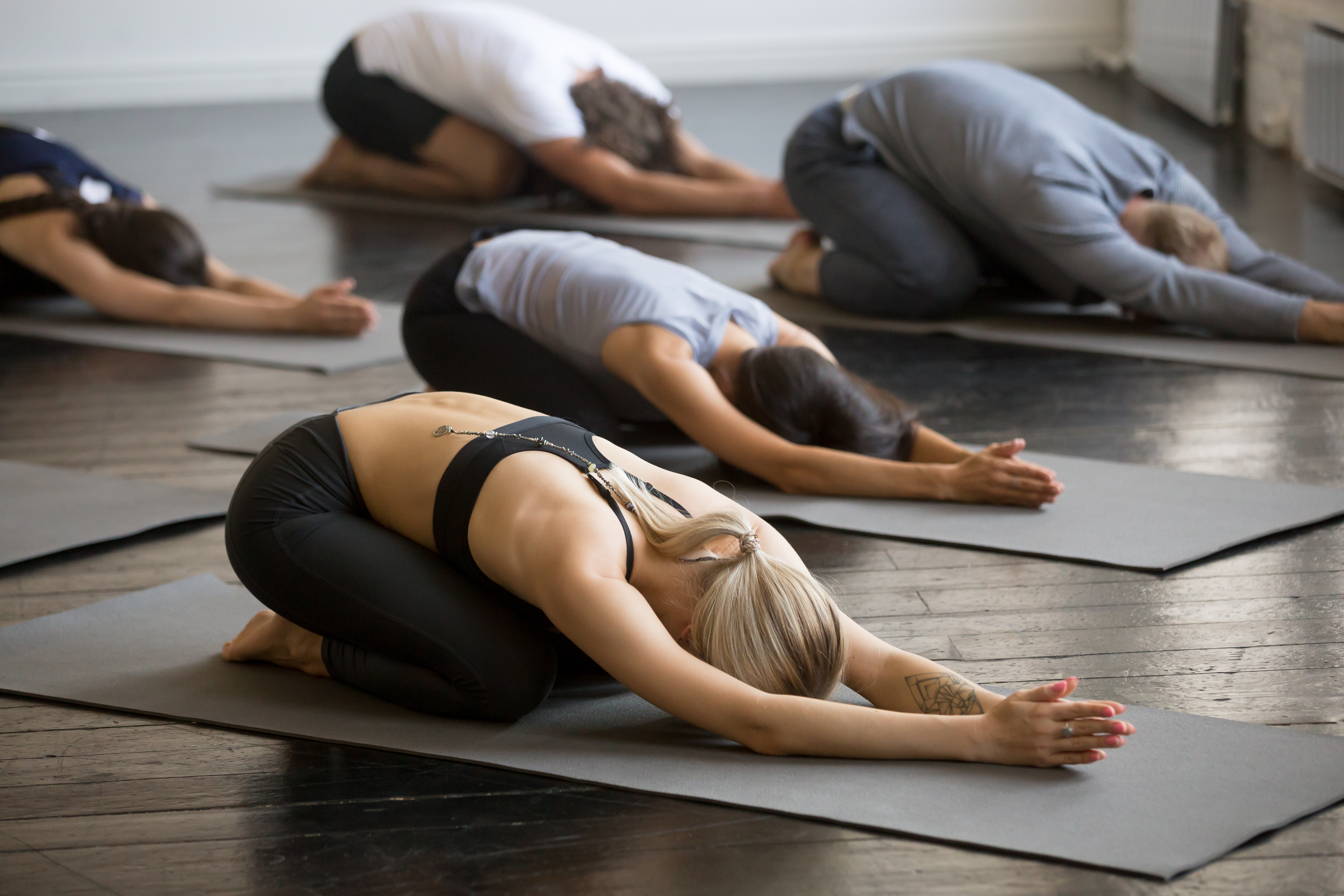 Yoga vor der Arbeit